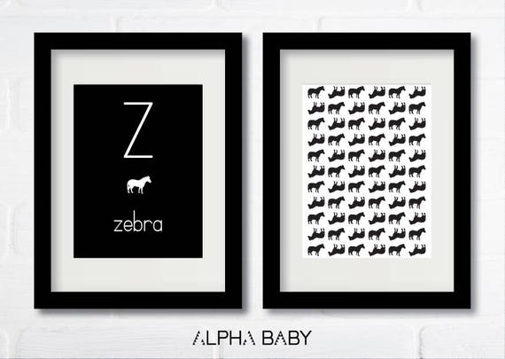 Z for ZEBRA Poster Set