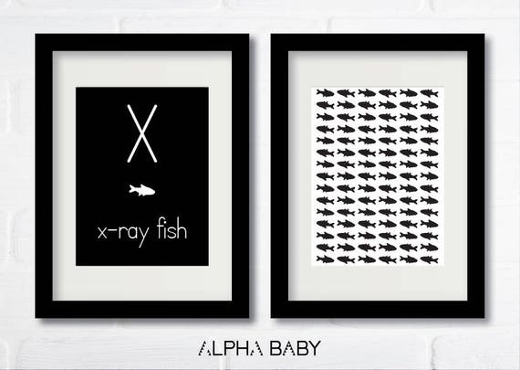 X for X-RAY FISH Poster Set