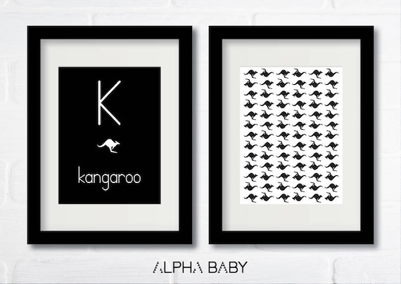 K for Kangaroo Poster Set