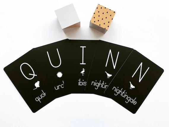 Individual Animal Alphabet Flash Cards