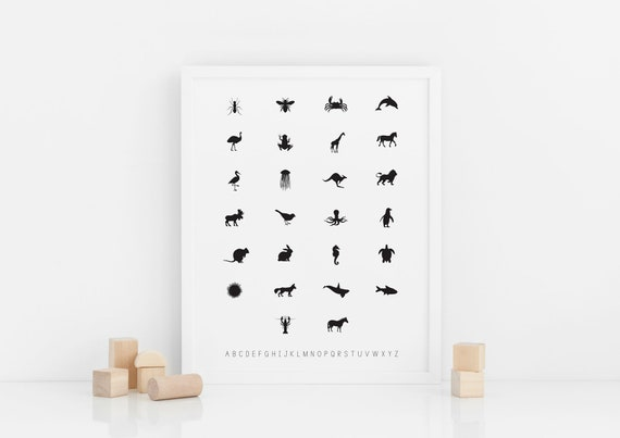 Alphabet + Animal Poster