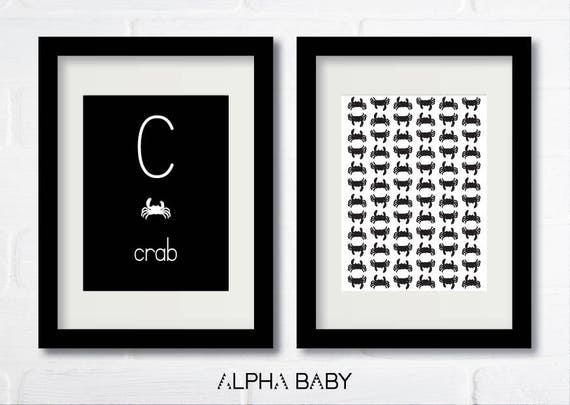 C for CRAB Poster Set