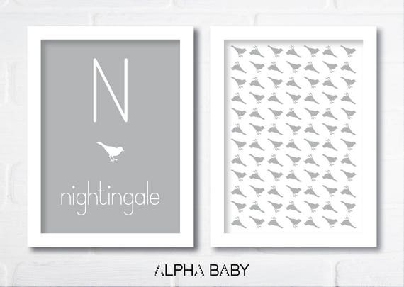 N for NIGHTINGALE Poster Set