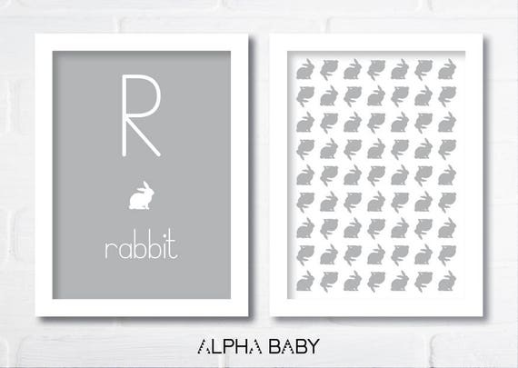 R for RABBIT Poster Set