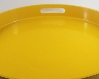 Retro Mid Century Modern Bright Yellow Laminate Tray/Platter