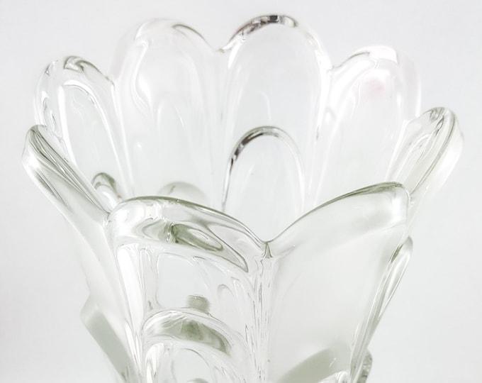 Exceptional Vintage Layered Petal Glass Vase