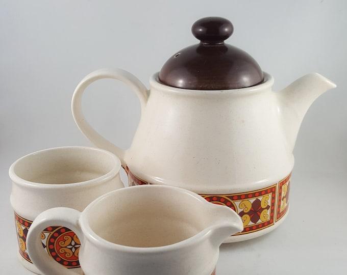 MId Century Sadler TeaPot and Cream and Sugar Set