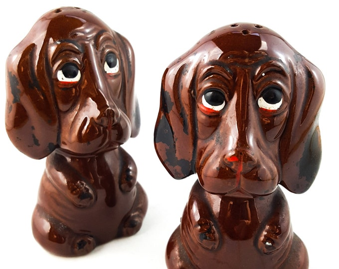 NEW PRICE!! Sad Dog Salt and Pepper Shakers