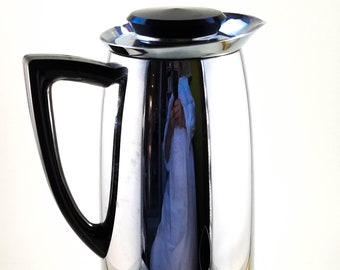 Vintage Mid Century Extra Tall Chrome Insulated Thermos