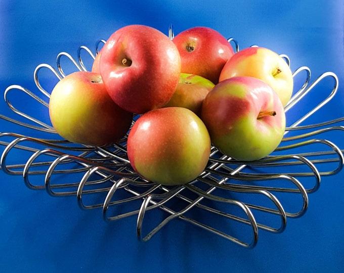 Mid Century Chrome Bent Wire Fruit Bowl
