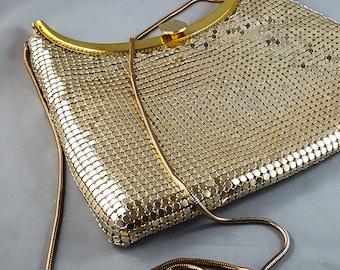 Magnificent Vintage 1950's Gold MESH evening Bag/Purse