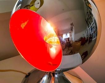 "Amazing Mid Century Chrome ""Eyeball"" Orb 2 Ball Table Lamp"