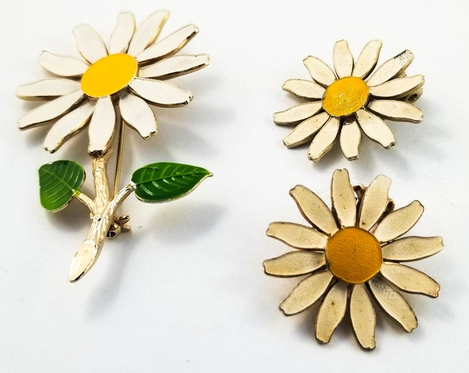 Crazy Daisy Brooch and Earring Set