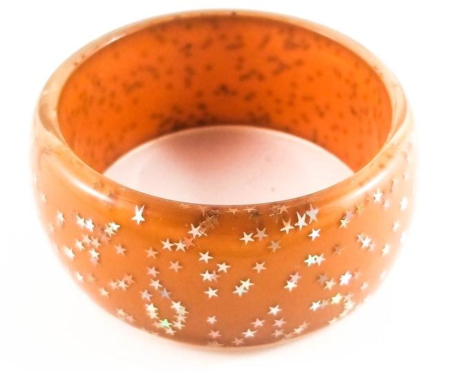 Fab Acrylic Glitter Star Encased Bangle