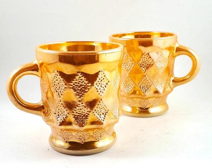 Fire King Peach LUSTREWARE Mug, Anchor Hocking Peach Lustre, Kimberly, Coffee Mugs, Vintage Mugs, Peach Lustreware