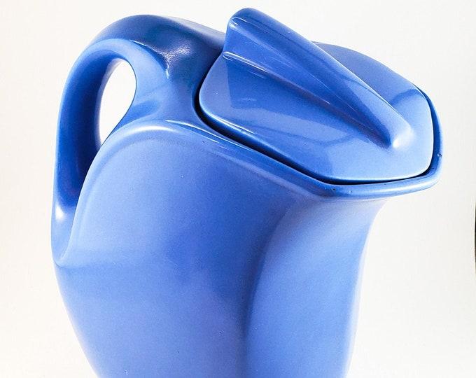 Beautiful Powder Blue Deco Ceramic Lidded Pitcher