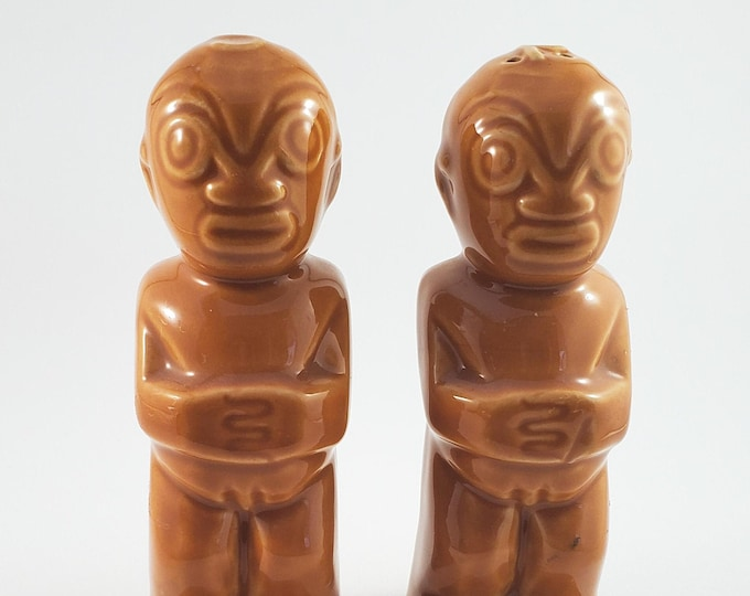 Very cool Ceramic Tiki Salt and Pepper Shakers