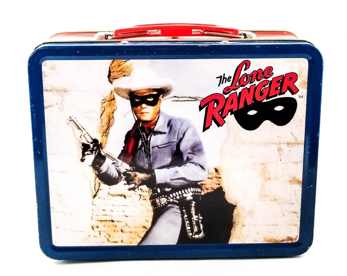Vintage 1980s Legend of the Lone Ranger Metal Lunch Box