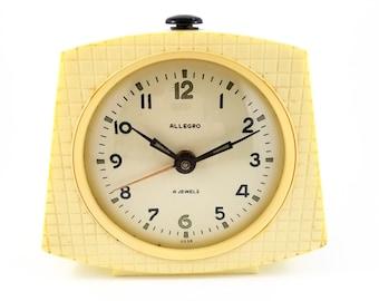 Very Cool Cream Coloured USSR Allegro Decoesque alarm clock