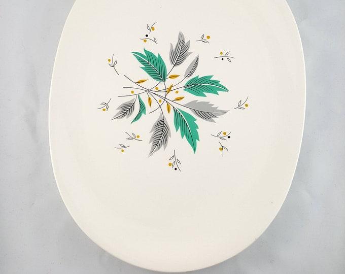 Vintage Platter, Mid Century, Johnson Bros, Ironstone, Mint Condition, Retro, Scandinavian Style, Oval, Large