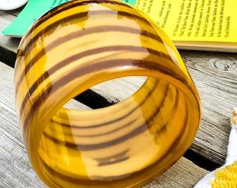Stunning Acrylic Vintage Tiber Stripe Cuff Bangle Bracelet