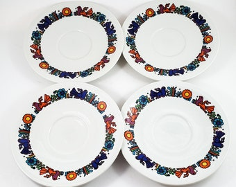 """Incredible Acapulco Mid Century 5"""" Saucers in a set of 4"""