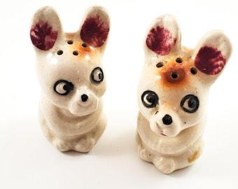 Vintage Little Dog Salt and Pepper Shakers