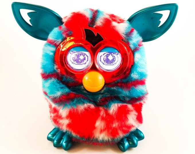 Vintage 90's Furby Blue And Red Working Condition Tiger Electronics