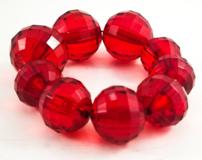Awesome Bead Expandable Bracelet with Acrylic Faceted Monster Beads in Varying sizes