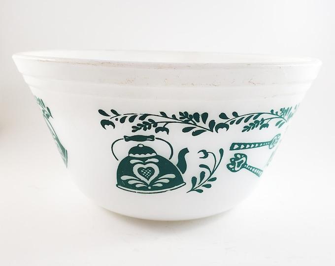 Vintage Federal American Homestead Heat Proof Bowl Federal Glass