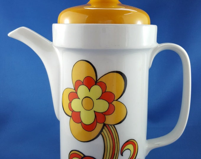 Flower Power Coffee Pot