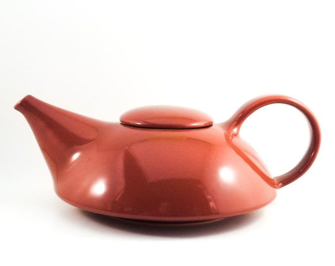 Vintage Midcentury Art Deco Claudia Shuride Chestnut Teapot made for Toscany