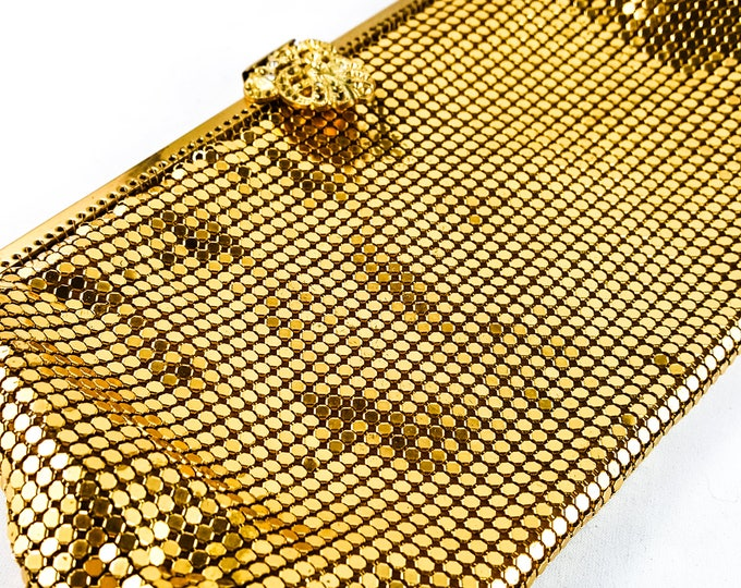 Vintage 1950's Gold MESH evening Bag