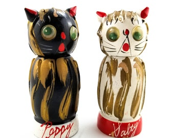 Vintage Little Kitty Salt and Pepper Shakers