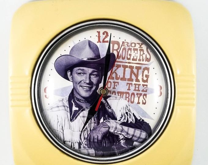 Lyon-Vandor Roy Rogers & Dale Evans Vintage Wall Clock Roy Rogers King Of The Cowboys