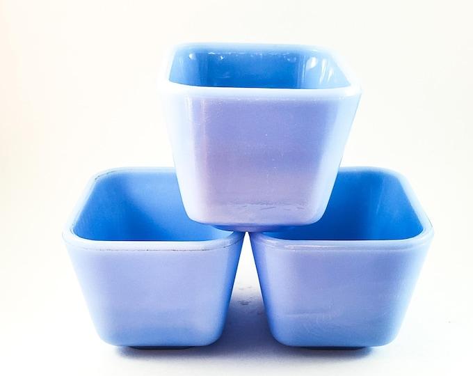 Periwinkle Blue Pyrex Fridge Keepers