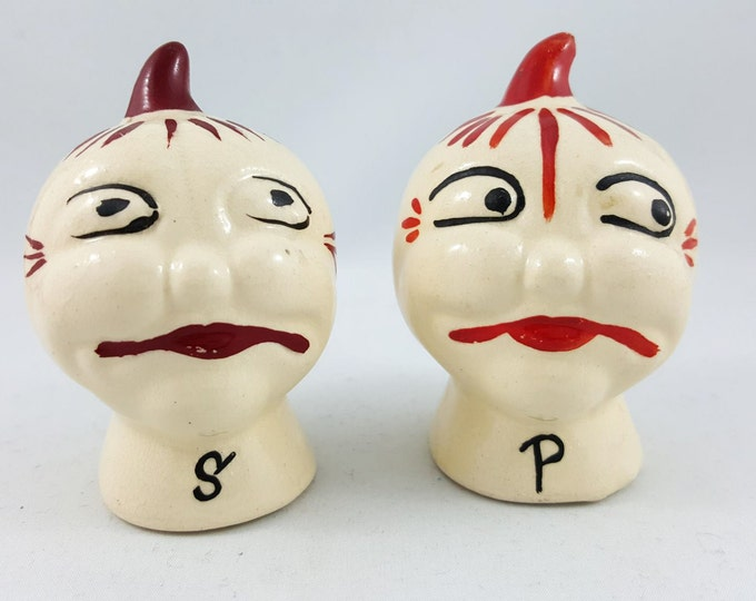 1950s Vintage Tomato Head Salt and Pepper Shakers