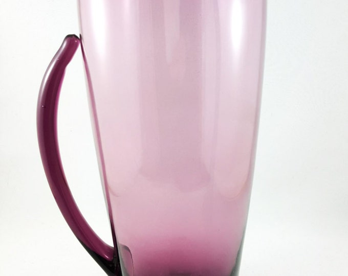 Blown Glass Purple Martini Pitcher