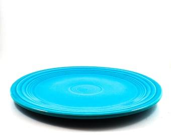 Fantastic Fiesta Dinner Plate in Turquoise Blue