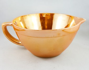 Fire King Peach Lustreware Batter Bowl