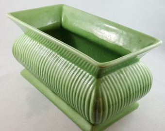 Green Ribbed 30's Haeger Mantle Planter