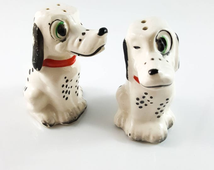 Vintage DALMATION Salt and Pepper Shakers