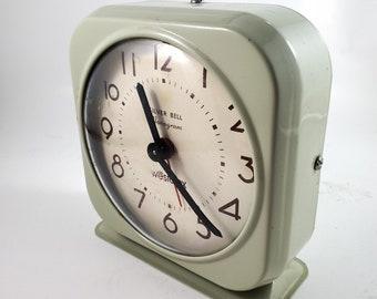 Classic Old School Green Westclox Alarm Clock