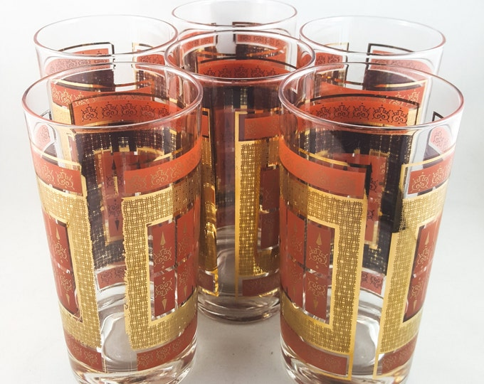 Set of 6 Gilt Tumblers
