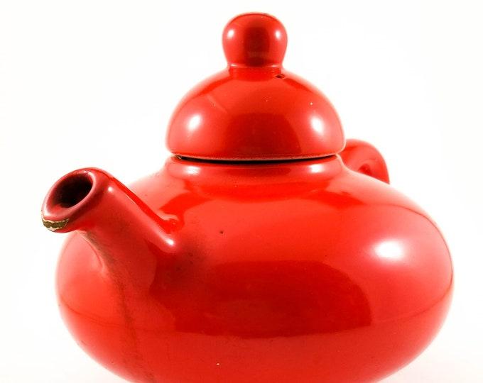 Red Flower Tea Pot Beauceware Flowerdale Tea Teapot, Beauce Teapot, Canada 3320C