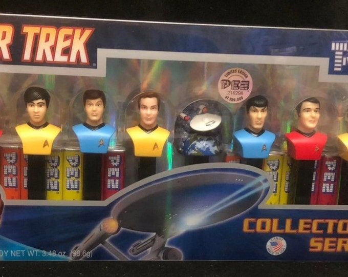 PEZ Star Trek Limited Edition, PEZ dispensers Collector's Series Limited Edition Sealed Gift Set of 8 USS Enterprise