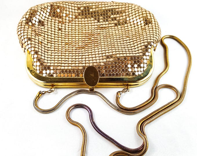 Magnificent Vintage 1950's Gold MESH evening Bag