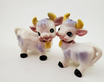 Sweet Cow Salt and Pepper Shakers with Cow Creamer