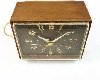 Vintage Westclox Faux Wood Electric Alarm Clock