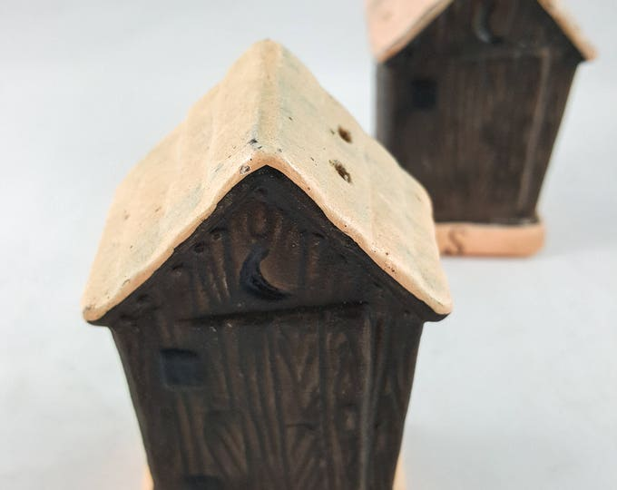 Vintage Outhouse Salt and Pepper Shakers